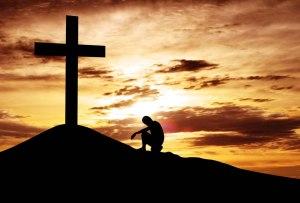 humillado ante la cruz